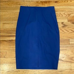 White House Black Market Blue Pencil Skirt